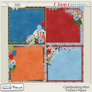 Celebrating Him - PreDeco Papers