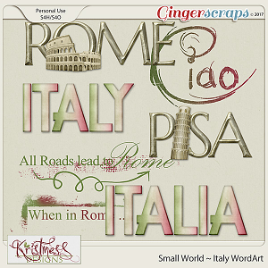 Small World ~ Italy WordArt
