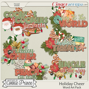 Holiday Cheer - Word Art Pack by Connie Prince