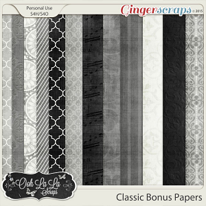 Classic Bonus Pattern Papers