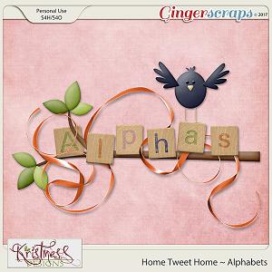 Home Tweet Home Alphabets