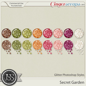 Secret Garden Glitter Photoshop Styles
