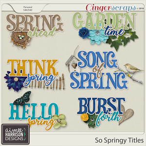 So Springy Titles by Aimee Harrison