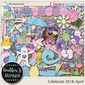 Celebrate 2018: April KIT by Heather Z Scraps