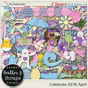 Celebrate 2018: April KIT by Heather Z Scraps