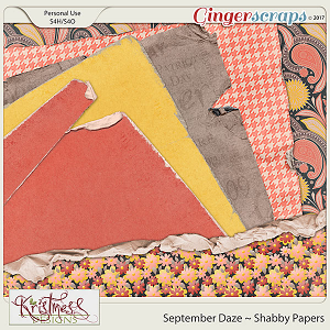 September Daze Shabby Papers