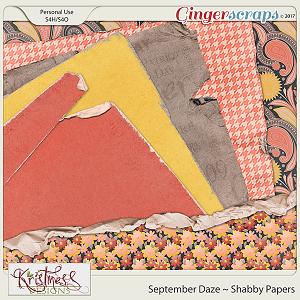September Daze Shabby Papers