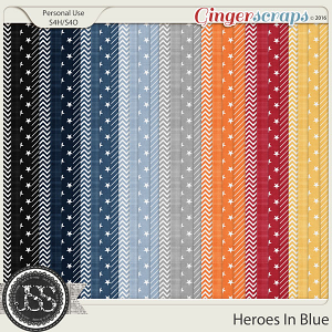 Heroes In Blue Pattern Papers