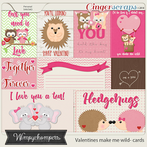 Valentines make me wild cards