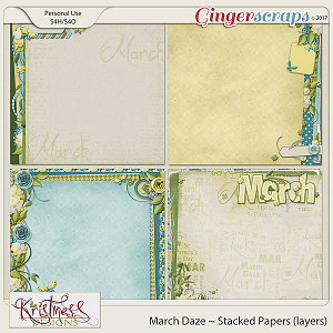 March Daze Stacked Papers (layers)