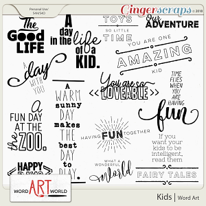 Kids Word Art