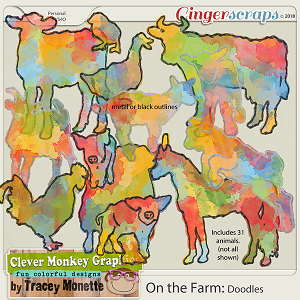 On the Farm Doodles by Clever Monkey Graphics