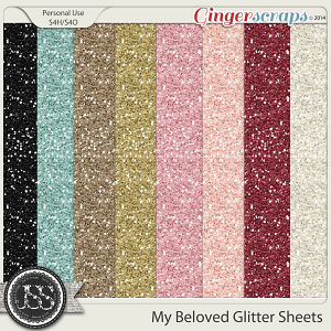 My Beloved Glitter Sheets