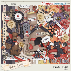 Playful Pups Page Kit