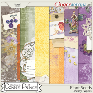 Plant Seeds - Messy Papers by Connie Prince