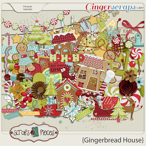 Gingerbread House embellishments by Scraps N Pieces