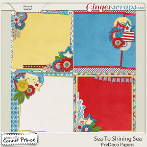 Retiring Soon - Sea To Shining Sea - PreDeco Papers