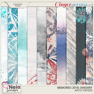 Memories 2018 - January - Artsy Papers By Neia Scraps