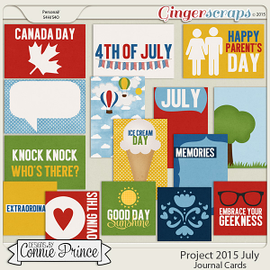Project 2015 July - Journal Cards