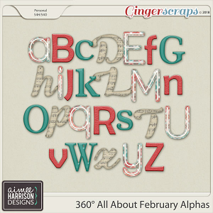 360°Life All About February Alpha Sets by Aimee Harrison