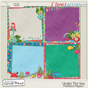 Under The Sea - PreDeco Papers