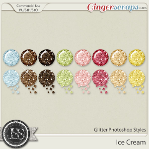 Ice Cream Glitter Photoshop Styles