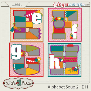 Alphabet Soup Template Pack 2 - E-H