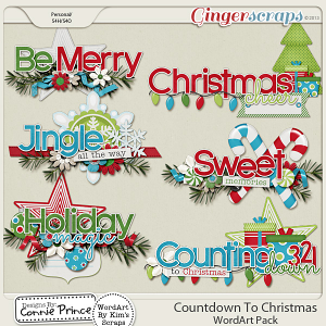 Countdown To Christmas - Word Art