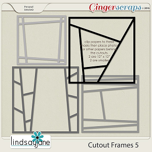 Cutout Frames 5 by Lindsay Jane