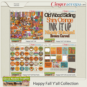 Happy Fall Y'all Collection by Clever Monkey Graphics