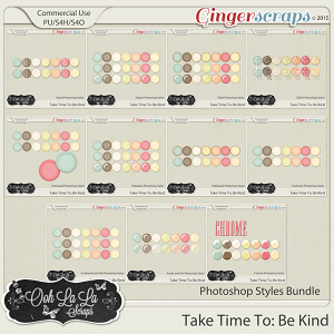 Take Time To Be Kind Photoshop Styles Bundle