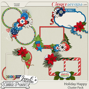 Holiday Happy - Cluster Pack