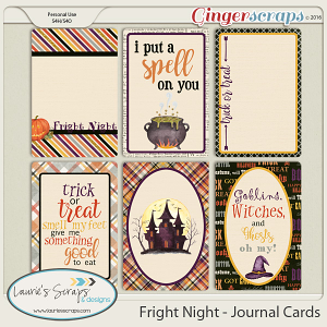 Fright Night - Journal Cards
