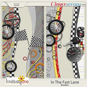 In The Fast Lane Borders by Lindsay Jane