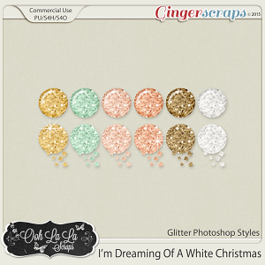 I'm Dreaming Of A White Christmas CU Glitter Photoshop Styles