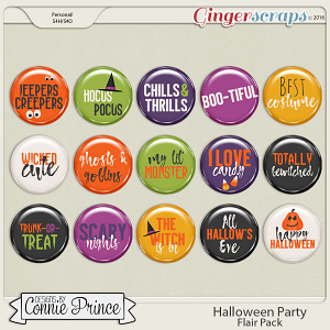 Halloween Party - Flair Pack