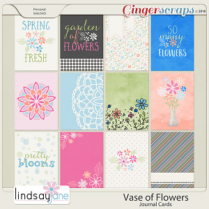 Vase of Flowers Journal Cards by Lindsay Jane