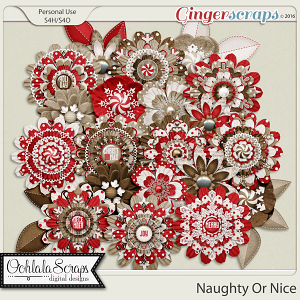 Naughty Or Nice Layered Flowers