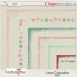 Love Cupcakes Edges by Lindsay Jane