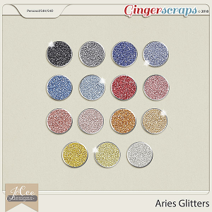 Aries Glitters by JoCee Designs