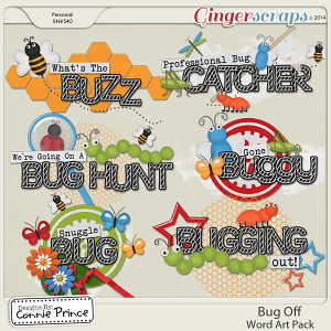 Bug Off - Word Art