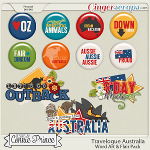 Travelogue Australia - Word Art & Flair Pack