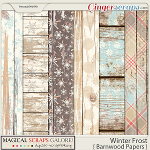 Winter Frost (shabby barnwood papers)