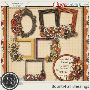 Bounti-Fall Blessings Cluster Frames