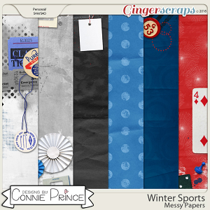 Winter Sports - Messy Paper Pack by Connie Prince