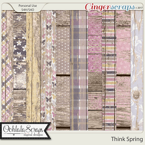 Think Spring Worn Wood Papers