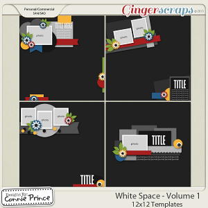 Retiring Soon - White Space Volume 1 - 12x12 Temps (CU Ok)
