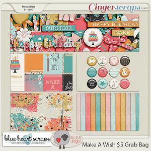 Make A Wish Grab Bag by Luv Ewe Designs and Blue Heart Scraps