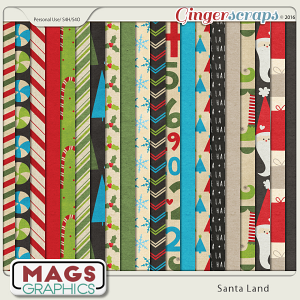 Santa Land PAPER PACK by MagsGraphics