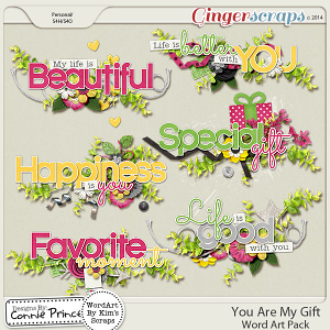 You Are My Gift - WordArt